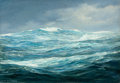 Mainstream Illustration, ANTON OTTO FISCHER (American, 1882-1962). Seascape. Oil oncanvas. 24 x 36 in.. Signed lower left. From the Estate o...