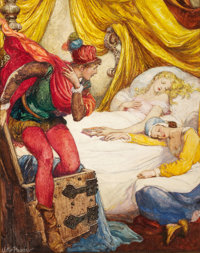 WILLY POGANY (Hungarian-American, 1882-1955) Cymbeline Mixed media on board 21.5 x 17.5 in. Si