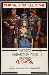"""Cleopatra (20th Century Fox, 1963). One Sheet (27"""" X 41"""") Todd AO Style w/ Snipe, and Half Sheet (22"""" X 2..."""