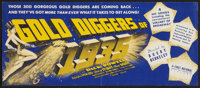 """Gold Diggers of 1935 (Warner Brothers, 1935). Herald (5"""" X 12""""). Musical"""