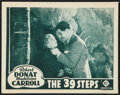 "Movie Posters:Hitchcock, The 39 Steps (Gaumont, R-1939). Lobby Card (11"" X 14""). Hitchcock.. ..."