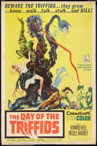 "The Day of the Triffids (Allied Artists, 1962). Poster (40"" X 60"") and Mexican Lobby Card (12.5"" X 16.25&..."