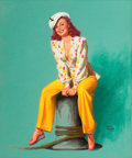 Paintings, EARL MORAN (American, 1893-1984). Pin-up #279. Pastel on board. 35 x 29 in.. Signed lower right. ...