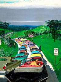 THORTON UTZ (American, 1914-1999) Saturday Evening Post cover, May 30, 1959 Oil on board 39.5 x 2