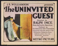 """The Uninvited Guest (Metro, 1924). Title Lobby Card (11"""" X 14""""). Drama"""