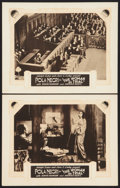 """Movie Posters:Drama, The Woman on Trial (Paramount, 1927). International Lobby Cards (2) (11"""" X 14""""). Drama.. ... (Total: 2 Items)"""