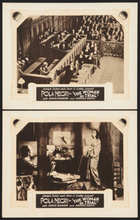 """The Woman on Trial (Paramount, 1927). International Lobby Cards (2) (11"""" X 14""""). Drama. ... (Total: 2 Items)"""
