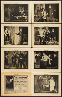 "The Third Eye (Pathé, 1920). Lobby Card Set of 8 (11"" X 14"") Episode 14 -- ""At Bay."" Serial..."