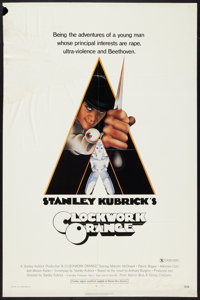 """A Clockwork Orange (Warner Brothers, 1971). One Sheet (27"""" X 41"""") X-Rated Style. Science Fiction"""