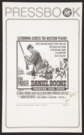 """Movie Posters:Western, Daniel Boone, Frontier Trail Rider (20th Century Fox, 1966). SignedLobby Card (11"""" X 14"""") and Pressbook (8.5"""" X 13.5""""). Wes... (Total:2 Items)"""