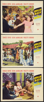 """Hold Back the Dawn (Paramount, 1941). Lobby Cards (3) (11"""" X 14""""). Romance. ... (Total: 3 Items)"""
