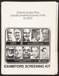 "Cinema Center Films Press Kit (National General, 1972). Press Kit (Multiple Items, 9"" X 12""), Photos (24) (8&q..."