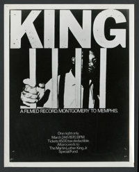 """King: A Filmed Record...Montgomery to Memphis (Maron Films, 1970). Photos (6) (8"""" X 10""""). Documentary. ... (To..."""