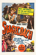 "Movie Posters:Western, Stagecoach (United Artists, R-1948). One Sheet (27"" X 41"").. ..."
