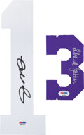 Miscellaneous Collectibles:General, Kareem Abdul Jabbar and Joe Montana Signed Numbers Lot of 2....