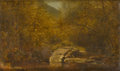 Fine Art - Painting, American:Antique  (Pre 1900), Attributed to JERVIS MCENTEE (American, 1828-1891). Rocks in theStream, 1882. Oil on canvas. 9in. x 15in.. Dated and ti...(Total: 1 Item)