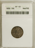Bust Dimes: , 1832 10C XF45 ANACS. NGC Census: (3/209). PCGS Population (13/199).Mintage: 522,500. Numismedia Wsl. Price for NGC/PCGS co...