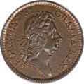 Colonials, 1723 1/2P Hibernia Halfpenny MS66 Red and Brown PCGS....