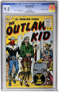 Outlaw Kid #9 Mile High pedigree (Atlas, 1956) CGC NM- 9.2 White pages
