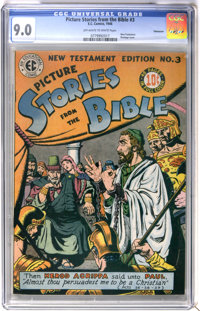 Picture Stories from the Bible - New Testament #3 Vancouver pedigree (EC, 1946) CGC VF/NM 9.0 Off-white to white pages...