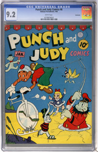 Punch and Judy Comics #6 Vancouver pedigree (Hillman Publications, 1946) CGC NM- 9.2 White pages