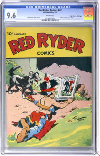 Red Ryder Comics #42 Mile High pedigree (Dell, 1947) CGC NM+ 9.6 White pages