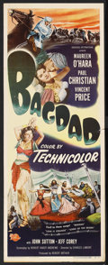"Movie Posters:Adventure, Bagdad (Universal, 1950). Insert (14"" X 36""). Adventure. StarringMaureen O'Hara, Paul Christian, Vincent Price and John Sut..."