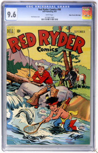 Red Ryder Comics #98 Mile High pedigree (Dell, 1951) CGC NM+ 9.6 White pages