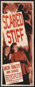 """Movie Posters:Mystery, Scared Stiff (Paramount, 1945). Insert (14"""" X 36""""). Mystery.Starring Jack Haley , Ann Savage, Barton MacLane and Veda Ann B..."""