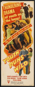 "Movie Posters:Bad Girl, Youth Runs Wild (RKO, 1944). Insert (14"" X 36""). Bad Girl. ..."