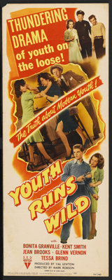 "Youth Runs Wild (RKO, 1944). Insert (14"" X 36""). Bad Girl"