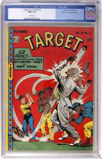 Target Comics V8#10 Mile High pedigree (Novelty Press, 1947) CGC NM+ 9.6 White pages