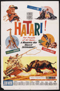 "Movie Posters:Adventure, Hatari! (Paramount, 1962). One Sheet (27"" X 41""). Adventure. ..."