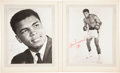 Boxing Collectibles:Autographs, Muhammad Ali Signed Photographs Lot of 2 - Signed in 1967....