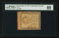 Colonial Notes:Continental Congress Issues, Continental Currency January 14, 1779 $55 PMG Extremely Fine 40.....