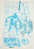 Prints, ROBERT RAUSCHENBERG (American, 1925-2008). White Walk (from the Stoned Moon Series), 1970. Lithograph in colors. Sheet: ...