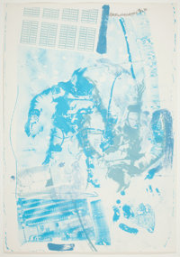 ROBERT RAUSCHENBERG (American, 1925-2008) White Walk (from the Stoned Moon Series), 1970 Lithograph