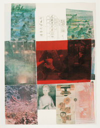 ROBERT RAUSCHENBERG (American, 1925-2008) From the Seat of Authority (2), 1979 Silkscreens Both: