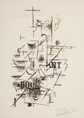 Prints:European Modern, AFTER GEORGES BRAQUE (French, 1882-1963). La bouteille.Lithograph. 18 x 12 inches (45.7 x 30.5 cm). Signed lower right:...