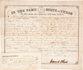 """Autographs, Texas C.S.A.: Edward Clark Land Grant Signed as Confederate governor of Texas. One page, 14.75"""" x 12.5"""", Austin, June 10, 18..."""
