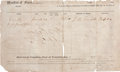 """Miscellaneous:Ephemera, A Manifest Listing Slaves. Two partly-printed pages (front and back), 12.25"""" x 7.25"""", Franklin, Louisiana, January 23, 1860...."""