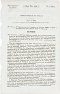 Books:Pamphlets & Tracts, [Texas Independence] Independence of Texas. July 4, 1836.(24th Congress, 1st Session, Rep. No. 854)....