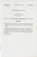 Books:Pamphlets & Tracts, [Recognition of the Republic of Texas] Independence of Texas.February 18, 1837. (24th Congress, 2d Session, Rep. ...