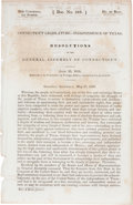 Books:Pamphlets & Tracts, [Recognition of the Republic of Texas] Connecticut Legislature -Independence of Texas Resolutions of the General Assemb...