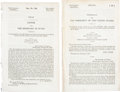 Books:Pamphlets & Tracts, [Republic of Texas] Pair of U.S. Congressional Documents Concerningthe Finances of the Republic of Texas including:... (Total: 2Items)