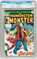 Bronze Age (1970-1979):Horror, Frankenstein #16 Western Penn pedigree (Marvel, 1975) CGC NM/MT 9.8Off-white pages....