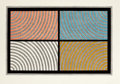Prints:Contemporary, SOL LEWITT (American, 1928-2007). Arcs from Four Corners,1986. Color woodcut. 18-1/2 x 28-1/2 inches (47.0 x 72.4 cm). ...