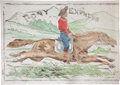 Antiques:Posters & Prints, Pony Express: An Enigmatic Nineteenth-Century Display Banner. ...