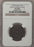 Colonials: , 1785 COPPER Nova Constellatio Copper, Blunt Rays VG8 NGC. Crosby1-B, R.4. NGC Census: (1/9). PCGS Population (0/34). (#8...