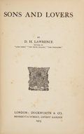 Books:First Editions, D. H. Lawrence. Sons and Lovers. London: Duckworth &Co., 1913.. First edition, with the called-for dated canc...